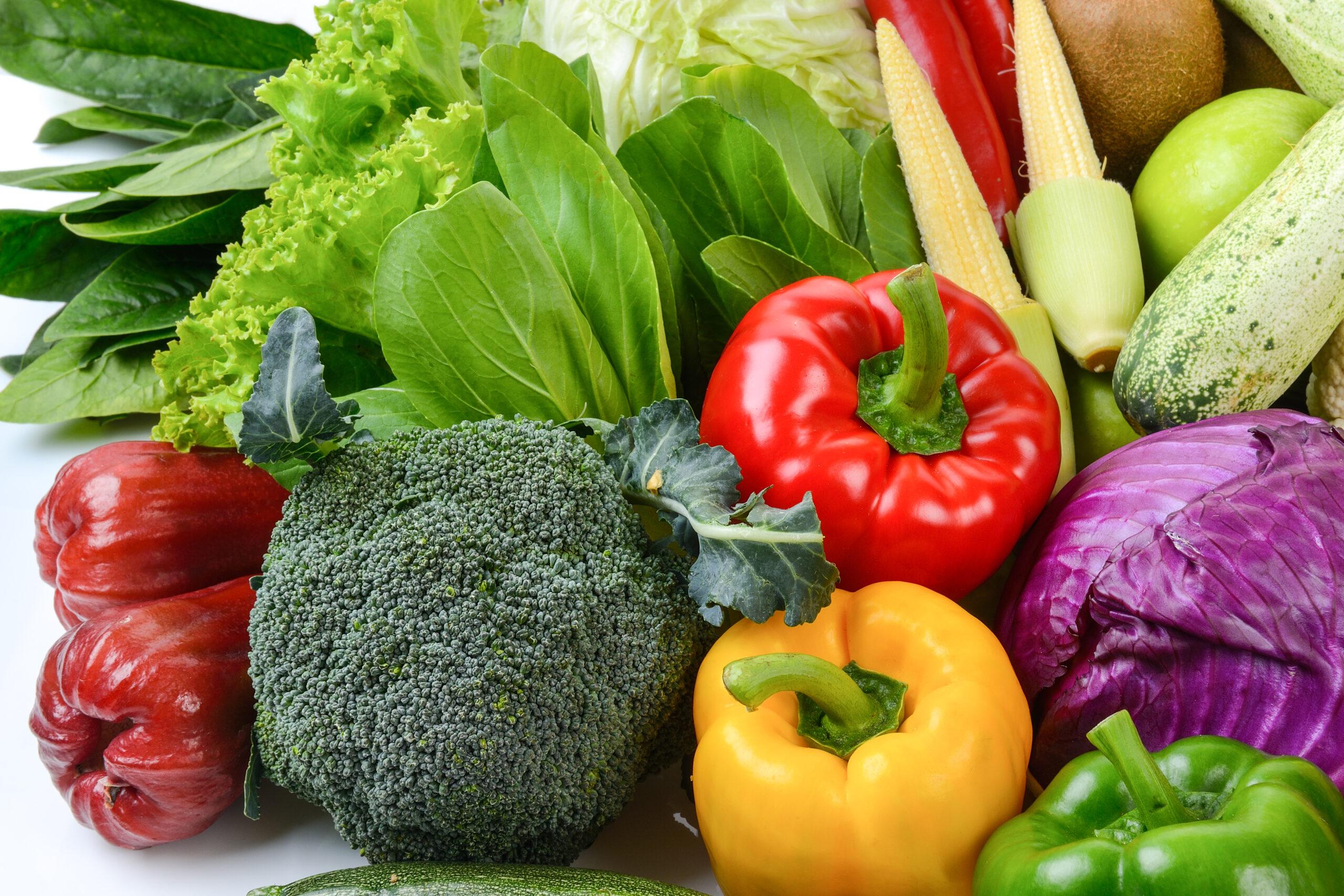 Dużo warzyw.